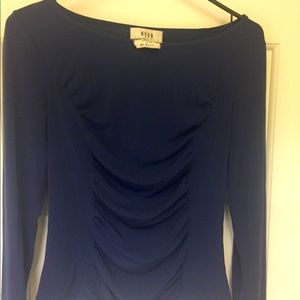 Blue form-fitting top
